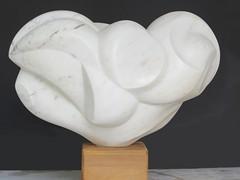 "Bird from Ruosina Carrara marble 17"" x 8"" x 11"""